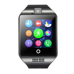 Bluetooth Smart Watch Q18 With Camera Facebook Whatsapp Twitter Sync SMS Smartwatch Black one size