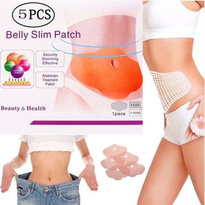 Slimming Patch Belly Slimming Belt Fitness Abdomen Weight Loss Weight burning Navel Stick Slimer as the picture 10 pcs
