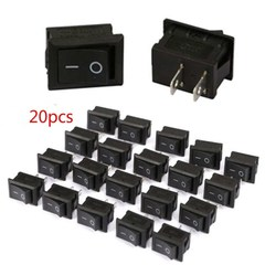 20pcs 2PIN ON/OFF Boat Rocker Switch 6A/250V Boat Car Rocker Water Dashboard Truck Dispenser Switch