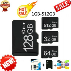 Sale New 128GB 256GB Micro SD MicroSDHC Micro SD SDHC Card TF Memory Card for Smart Phones Cameras Black One set 64GB