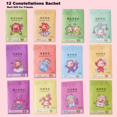 1 PCS Twelve Constellations Fresh Air Scented Fragrance Home Wardrobe Drawer Car Perfume Sachet Bag Multicolor 1 pcs Random