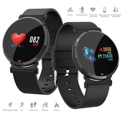 E28 Smart Watches Men Fitness Tracker HD IPS Screen Smart Wristband Heart Rate Monitor Waterproof Black One size