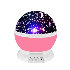 Led Rotary Projector Cosmo-Star Night Light Multi Colorful Light Projection Lamp Room Decoration Pink One size