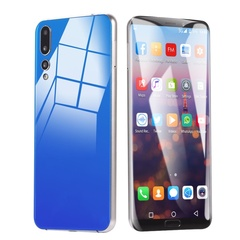 6.1 Inch Android 8.1 Smartphone GSM 3G Dual-SIM Support Wireless Bluetooth GPS Mobile Phone 4GB+64GB Blue
