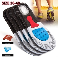 1 Pair Unisex Gel Orthotic Sport Running Insoles Insert Shoe Pad Arch Support Cushion Black Men