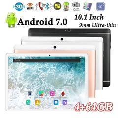 10.1 Inch Android 6.0 Tablets 4GB+64GB 3G Dual SIM Card Phone 3G Call Wifi Tablets PC 2.0MP+8.0MP Gold