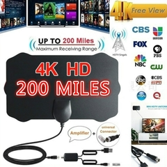 4K HD Antena TV Box Fox Surf Aerial Antennas Freeview DVB-T/DVB-T2 HDTV Signal Amplifier--200 Miles