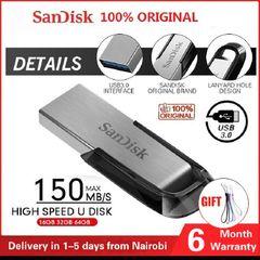 SanDisk Pendrive Flashdisk Ultra Flair USB 3.0 Flash Drive 128GB 64GB 32GB 16GB Flash Memory card silver Sandisk 16gb