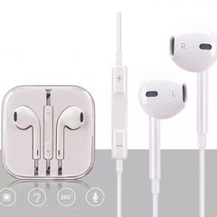 In-Ear Earphones With Microphone Wire Hybrid Stereo Earphones for IPhone Samsung Huawei Mobile White