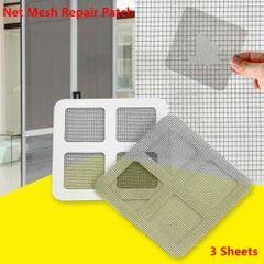 3 Sheets Window Screen Repair,Window Net Repair Patch,Adhesive PatchRepair Loophole,Home Improvement 3 Sheets