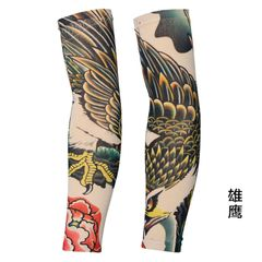 Outdoor Cycling 3D Tattoo Printed Arm Sleeves Sun Protection Bike Basketball Compression Arm Ridding 06 one size