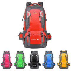 Outdoor backpacks mountaineering bags waterproof anti-pollution sports tourism 60L Yellow 60L