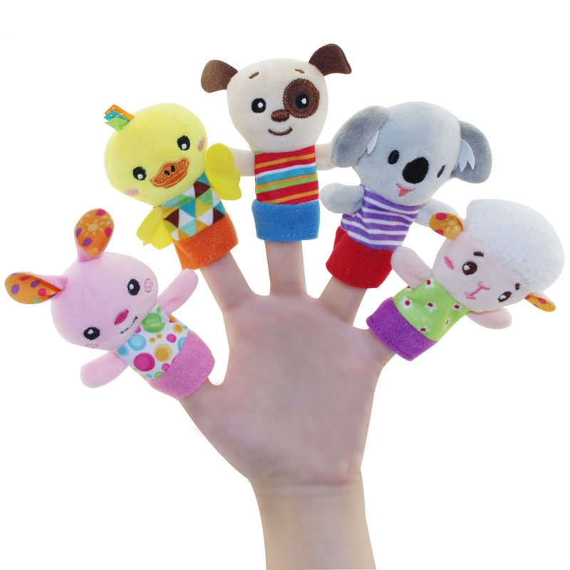 Hand puppet toy monkey newborn baby finger doll finger doll baby comfort  toy The New One size
