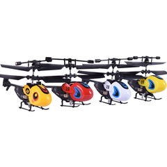 Mini remote control aircraft helicopter child aviation model toy fall resistant aircraft Random color one size