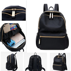 New lady's shoulder bag, waterproof and wear-resistant Oxford cloth, large capacity Backpack black 1