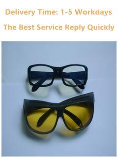 Night Vision Glasses   with anti glare lenses+ Anti Blue Light  Mobile Phone Computer Radiation Yellow-black