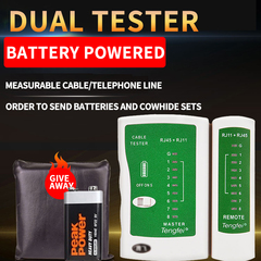 Network Tester Tool Network Lan Cable Tester Detector, Network Wire Tracker For RJ45 RJ11 Cable Tester Buy Cable Tester and give-away a free battery