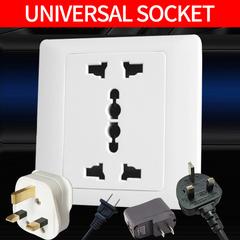 Universal socket generic socket panel  110-250V 13A white Universal socket