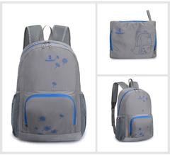 Waterproof Nylon Foldable Backpack Unisex Casual Travel Backpack Ultralight Travel Bag For Men Women grey large
