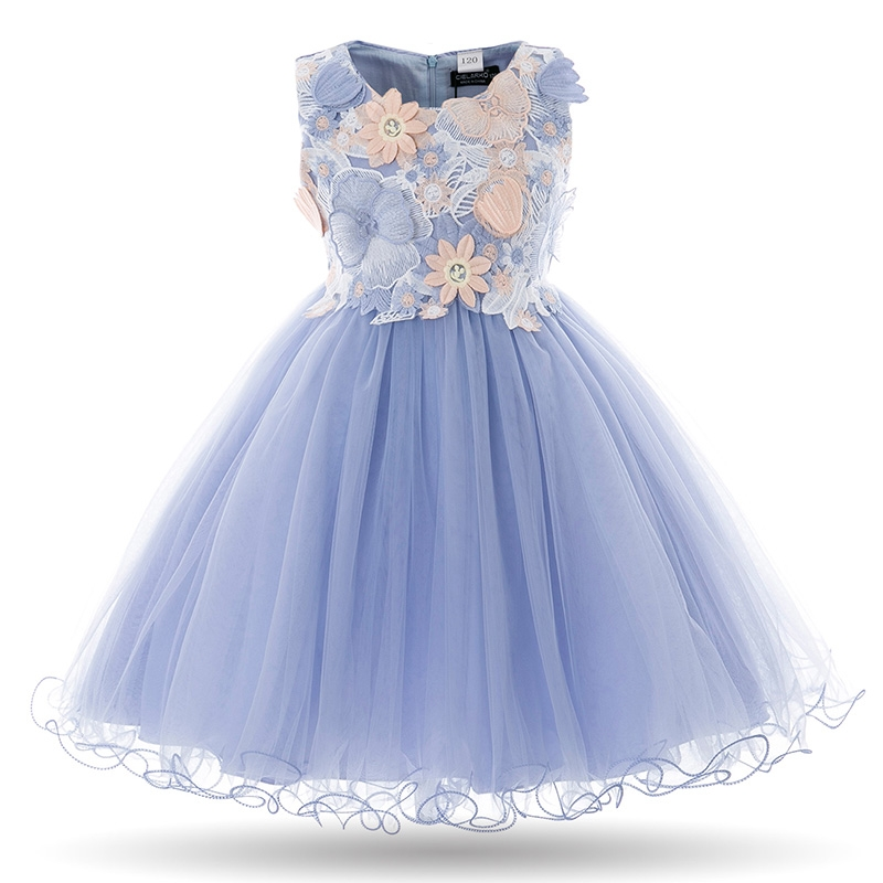 8f8062864 CIELARKO Girls Dress Kids Flower Lace Party Wedding Dresses Children ...