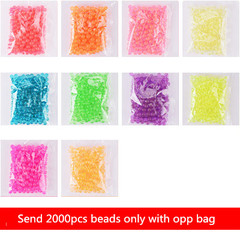 24 Colors 2400pcs Magic Water Beads Aqua Beads Children Puzzles Jigsaw Diy Beads Educational Toys 2000pcs normal
