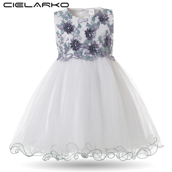a2332257a9b22 Mottelee Toddler Girls Dress Elegant Princess Birthday Baby Gown Flower  Girl Dresses Pageant Frocks green 9t