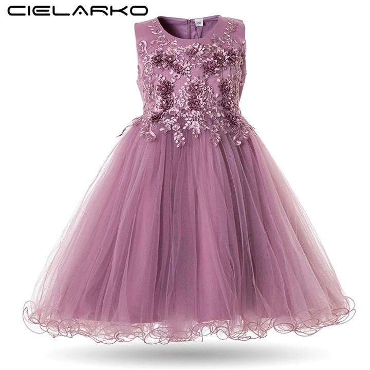 369393a819da Cielarko Flower Girls Dress Wedding Party Dress for Kids Formal 2018 ...