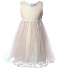 Kid Dresses Girs White Lace Butterfly Princess Wedding Party Dress Evening Tulle Frock for Birthday pink 2t
