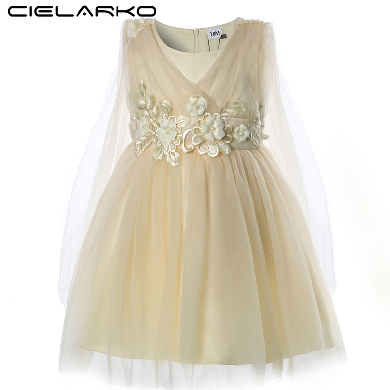 1c80527497e1 Baby Girls Dress Christening Birthday Party Dresses Summer Flower ...