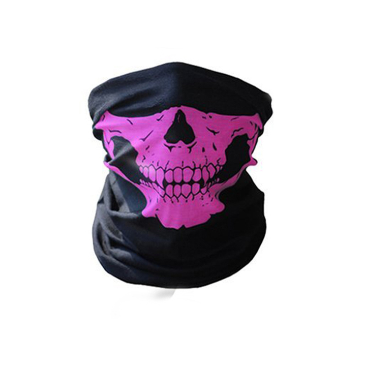 Skull Mask Bicycle Cycling Helmet Neck Face Mask Half Face Paintball Ski Sport Headband Masks Pink