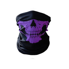Skull Mask Bicycle Cycling Helmet Neck Face Mask Half Face Paintball Ski Sport Headband Masks Purple