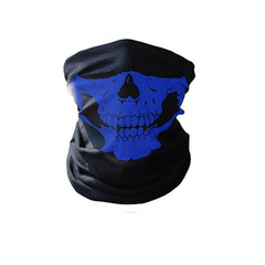 Skull Mask Bicycle Cycling Helmet Neck Face Mask Half Face Paintball Ski Sport Headband Masks Blue
