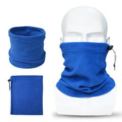 Winter Warm Ski Mask Bicycle Cycling Neck Face Mask Half  Face Head Scarf Fleece Headwear Scarf blue