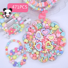 492pc Kids DIY Beads for Jewelry Making Toys Decoration Crafts Material Kit Puzzle Creativity Bead Flowers1 Normal
