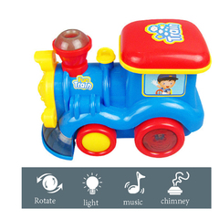 Electric Kids Train Toys Lights Music Locomotive Model Toy Car for Boys Plastic Mini Children Blue normal