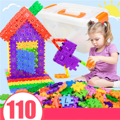Kids Inserted Building Blocks Assembled Interconnecting Block Cognitive Toys a110pcs normal