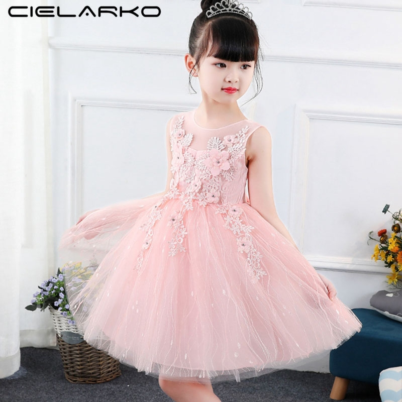 Tulle Girls Dress 2018 Formal Elegant Applique Flower Baby Frock Wedding  Princess Party Dresses Kids pink 8t  Product No  9960561. Item specifics   Seller ... 828d6f9ab0fe