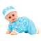 Electric Music Crawling Say Mama Daddy Laugh Crawl Doll Baby Infant Talking Singing Dancing Doll blue floral normal