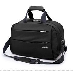High Quality Nylon Casual Travel Bag Shoulder Bag Travel Totes Large Unisex Fashion Duffle Bag black small size