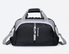 Waterproof Oxford Travel Bags Duffle Bag For Women Men Unisex Casual Patchwork Single Shoulder Strap black large