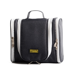 Waterproof Washing Essentials Organizer Cosmetic Bag Travel Bag Large Capacity Hanging Wash Bag black large size