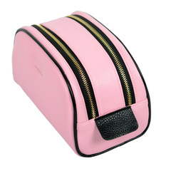 Waterproof PU Travel Make Up Bag 2018 New Large Capacity 2 Layers Cosmetic Case Makeup Bags Pouch pink wallet