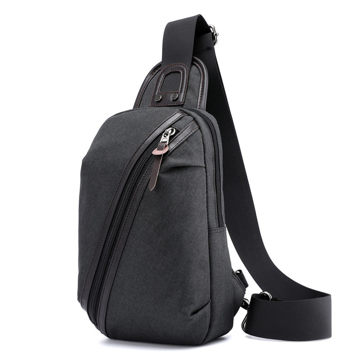 24df1d8ffc High Quality Crossbody Bag 2018 New Fashion Black Gray Chest Bags Men s  Single Strap Shoulder
