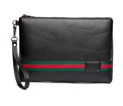 Leisure Leather Day Clutches Bags PU Satchels Bag Simple Black Wallet Handy Bag Handbags Male Purse black red 18*27*2cm