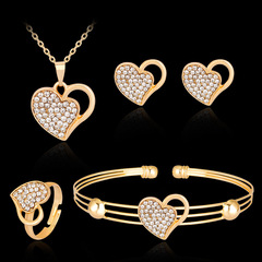 Girls Alloy Exquisite Pearl diamond Hollow Bracelet Jewelry gold normal