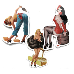 50 pcs/lot Retro Sexy Beauty /Rick and Mody Cartoon Sticker for Laptop Travel Luggage Funny Sticker colorful Women