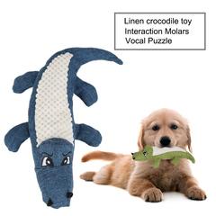 Pet Dog Cat Molars Chew Sounding Linen Toys blue 29*15*5cm
