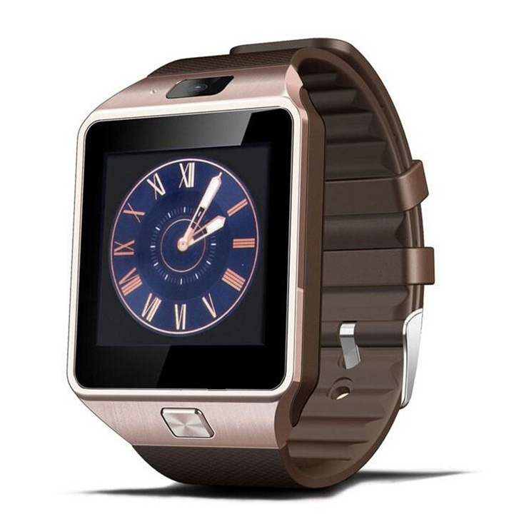Smart Watch Android Phone TF Sim Card Camera Men Women Sport Wristwatch Can Be Gifts For Family golden 7*5cm