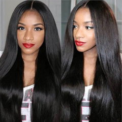 Mid-point Straight Hair Straight Black Full Wigs long Wigs black 70cm