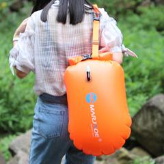 Outdoor Portable Folded Waterproof Bag Swimming BackPack Float On Water Inflatable Bag orange 20l